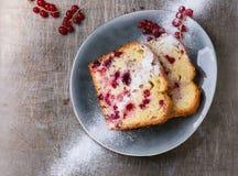 Κέικ με την κόκκινη σταφίδα Στοκ Εικόνα