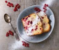 Κέικ με την κόκκινη σταφίδα Στοκ Φωτογραφίες