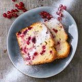 Κέικ με την κόκκινη σταφίδα Στοκ φωτογραφία με δικαίωμα ελεύθερης χρήσης