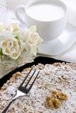 Κέικ με τη σοκολάτα και τα ξύλα καρυδιάς Ricotta στοκ εικόνες με δικαίωμα ελεύθερης χρήσης
