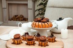 Κέικ με τη σοκολάτα Στοκ Φωτογραφία