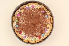 Κέικ με τις φακές σοκολάτας Στοκ φωτογραφίες με δικαίωμα ελεύθερης χρήσης