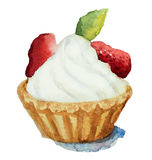 Κέικ με τις φράουλες Στοκ φωτογραφία με δικαίωμα ελεύθερης χρήσης