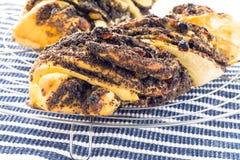 Κέικ με τους σπόρους παπαρουνών Στοκ Εικόνες