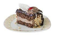 Κέικ με το ρούμι και τα καρύδια Στοκ φωτογραφία με δικαίωμα ελεύθερης χρήσης