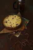 Κέικ με το τυρί εξοχικών σπιτιών Στοκ εικόνα με δικαίωμα ελεύθερης χρήσης