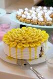 Κέικ μπανανών Στοκ Εικόνα
