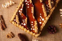 Κέικ μπισκότων με τη σοκολάτα Στοκ φωτογραφία με δικαίωμα ελεύθερης χρήσης