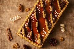 Κέικ μπισκότων με τη σοκολάτα Στοκ Φωτογραφίες