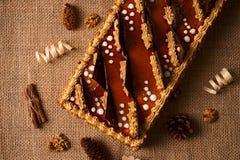 Κέικ μπισκότων με τη σοκολάτα Στοκ Εικόνα