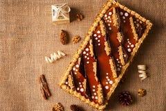 Κέικ μπισκότων με τη σοκολάτα Στοκ Εικόνες