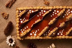 Κέικ μπισκότων με τη σοκολάτα Στοκ εικόνες με δικαίωμα ελεύθερης χρήσης