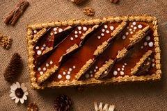 Κέικ μπισκότων με τη σοκολάτα Στοκ εικόνα με δικαίωμα ελεύθερης χρήσης