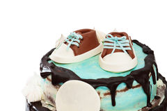 Κέικ μωρών για τα γενέθλιά του Στοκ Εικόνα