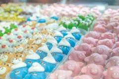 Κέικ μωρών στη μορφή των ζώων κλείστε επάνω Στοκ εικόνα με δικαίωμα ελεύθερης χρήσης