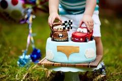 Κέικ μωρών Mcqueen αστραπής Στοκ Εικόνες