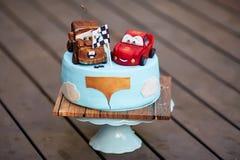 Κέικ μωρών Mcqueen αστραπής Στοκ φωτογραφία με δικαίωμα ελεύθερης χρήσης