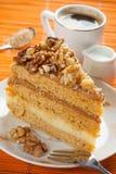 Κέικ ξύλων καρυδιάς Στοκ Φωτογραφίες
