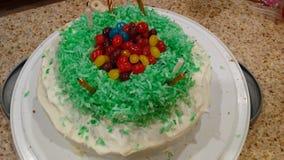 Κέικ Πάσχας Jellybean στοκ εικόνα