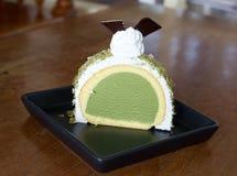 Κέικ παγωτού Greentea Στοκ εικόνα με δικαίωμα ελεύθερης χρήσης