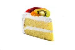 Κέικ που απομονώνεται στο άσπρο υπόβαθρο στοκ εικόνες με δικαίωμα ελεύθερης χρήσης