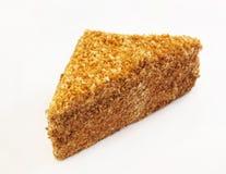 Κέικ που καλύπτεται τριγωνικό με τα τσιπ σοκολάτας στοκ εικόνα με δικαίωμα ελεύθερης χρήσης