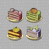 κέικ που τίθενται Στοκ εικόνα με δικαίωμα ελεύθερης χρήσης