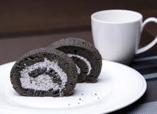 Κέικ ρόλων μαρμελάδας Στοκ Εικόνες