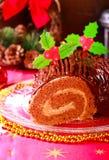 Κέικ ρόλων σοκολάτας Στοκ Φωτογραφίες