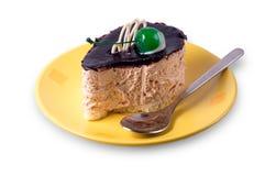 Κέικ σε ένα πιάτο Στοκ Φωτογραφία