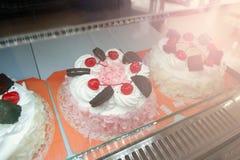 Κέικ σε μια καφετερία Στοκ φωτογραφία με δικαίωμα ελεύθερης χρήσης