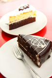 Κέικ σοκολάτας, γλυκό επιδόρπιο. Στοκ φωτογραφία με δικαίωμα ελεύθερης χρήσης