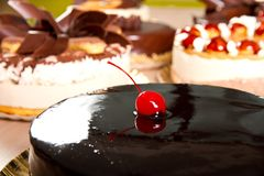 Κέικ σοκολάτας στοκ φωτογραφίες με δικαίωμα ελεύθερης χρήσης
