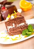 Κέικ σοκολάτας στοκ εικόνα με δικαίωμα ελεύθερης χρήσης