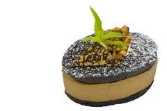 Κέικ σοκολάτας και καφέ Στοκ Εικόνες