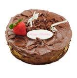 Κέικ σοκολάτας με τη φράουλα Στοκ φωτογραφία με δικαίωμα ελεύθερης χρήσης