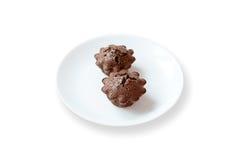 Κέικ σοκολάτας με Fondant την πλήρωση Στοκ Εικόνες