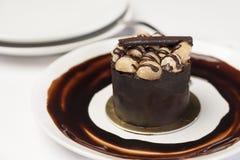 Κέικ σοκολάτας με Macadamia Στοκ Εικόνες