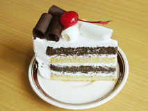 κέικ σοκολάτας μπισκότων και κρέμας Στοκ Εικόνες