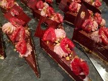 Κέικ σοκολάτας σμέουρων Στοκ εικόνα με δικαίωμα ελεύθερης χρήσης