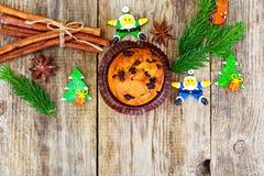 Κέικ σοκολάτας στα Χριστούγεννα, νέο έτος Στοκ φωτογραφία με δικαίωμα ελεύθερης χρήσης