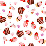 Κέικ σοκολάτας φραουλών Στοκ εικόνες με δικαίωμα ελεύθερης χρήσης