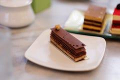 Κέικ σοκολάτας Στοκ Εικόνες