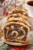 Κέικ σπόρου παπαρουνών για τα Χριστούγεννα Στοκ φωτογραφίες με δικαίωμα ελεύθερης χρήσης