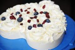 Κέικ σταφίδων τυριών Στοκ φωτογραφίες με δικαίωμα ελεύθερης χρήσης