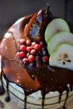 Κέικ στρώματος αχλαδιών Στοκ φωτογραφίες με δικαίωμα ελεύθερης χρήσης