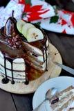 Κέικ στρώματος αχλαδιών Στοκ εικόνα με δικαίωμα ελεύθερης χρήσης