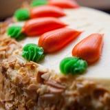 Κέικ στρώματος καρότων Στοκ Εικόνες