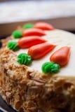 Κέικ στρώματος καρότων Στοκ εικόνες με δικαίωμα ελεύθερης χρήσης
