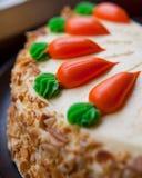 Κέικ στρώματος καρότων Στοκ εικόνα με δικαίωμα ελεύθερης χρήσης